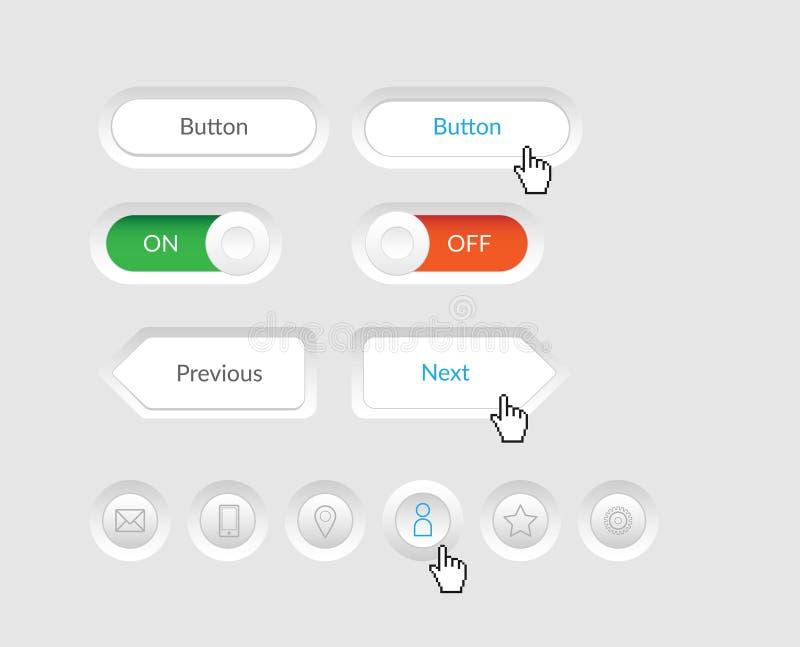 Botões simples do vetor ilustração do vetor