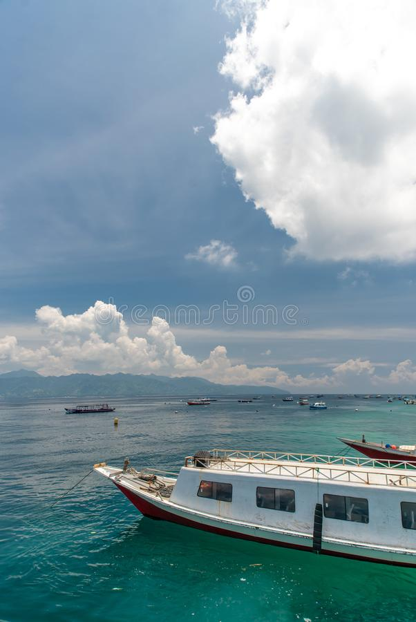 Bot als zee op Bali-eiland in Indonesië royalty-vrije stock afbeelding