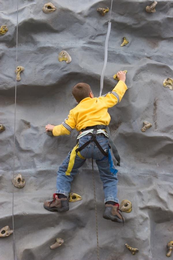 Bot Climbing Rock Wall royalty free stock images