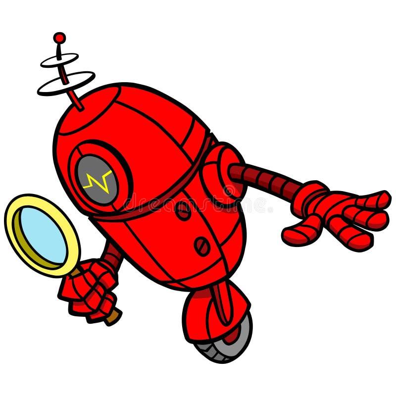 Bot del motore di ricerca illustrazione vettoriale