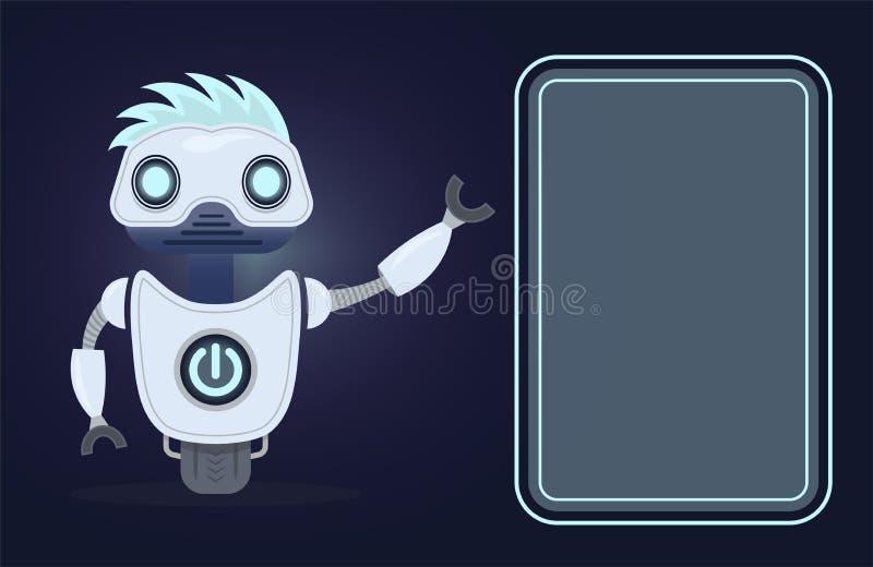 Bot di chiacchierata Intelligenza artificiale Per le applicazioni del cellulare o del sito Web illustrazione di stock