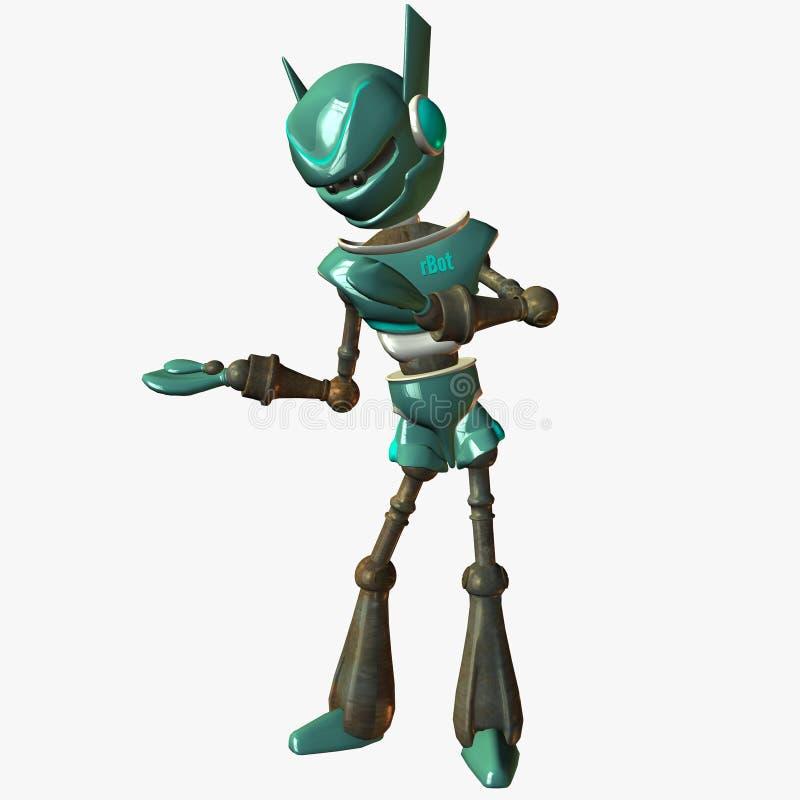 Bot-Holding vektor abbildung