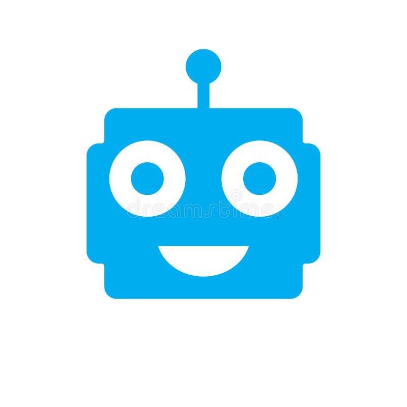 Bot logo template vector icon design. flat icon vector illustration for web or app. Eps 10 stock illustration