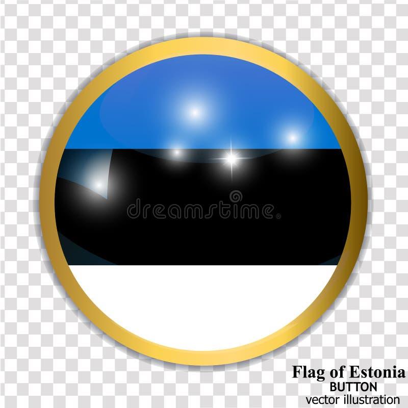 Bot?n con la bandera de Estonia Vector stock de ilustración