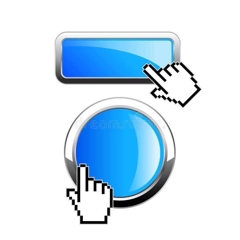 Bot?n de la web del tecleo ilustración del vector