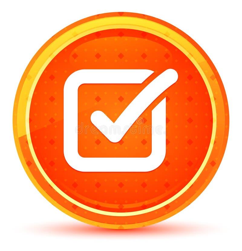 Bot?n redondo anaranjado natural del icono de la caja de control libre illustration