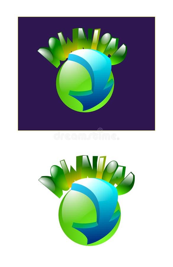 Bot?n verde de la transferencia directa libre illustration