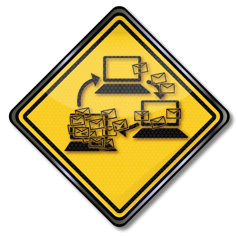 Bot-rede e Spam-correios ilustração stock