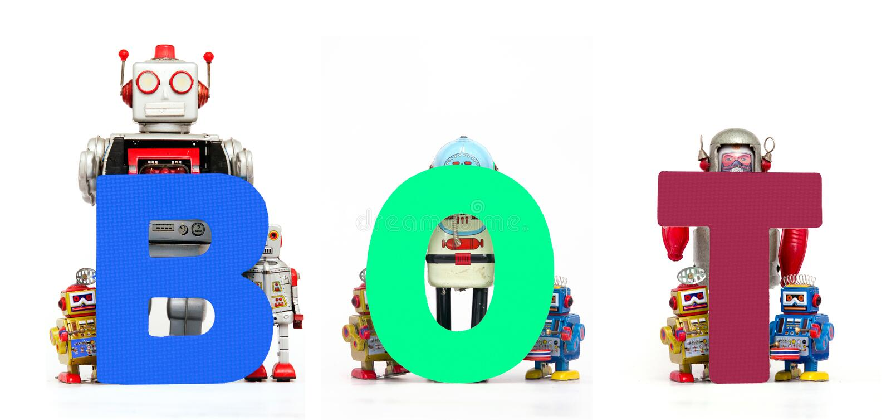 BOT robots royalty free stock photography