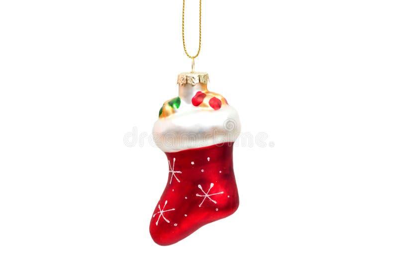 Bota de Santa Claus aislada en el fondo blanco foto de archivo libre de regalías