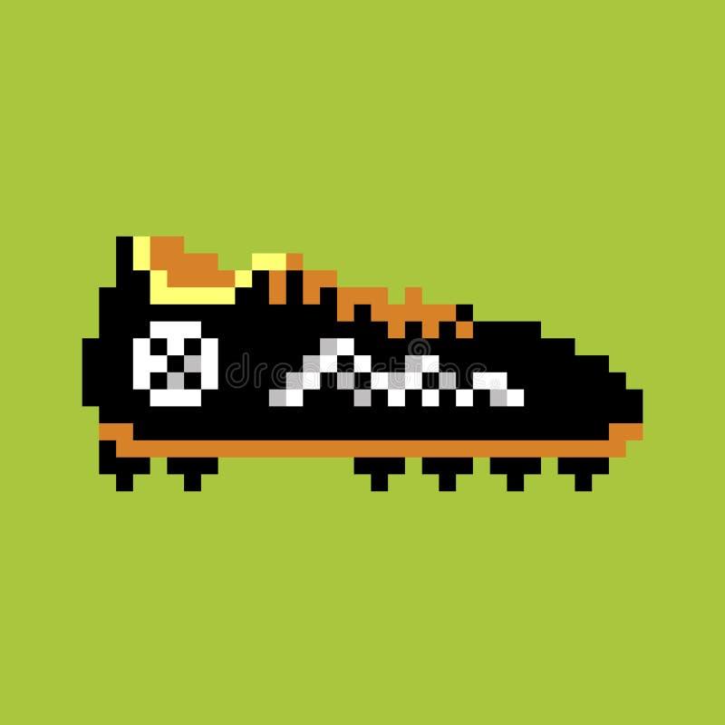 Bota do futebol do pixel fotos de stock