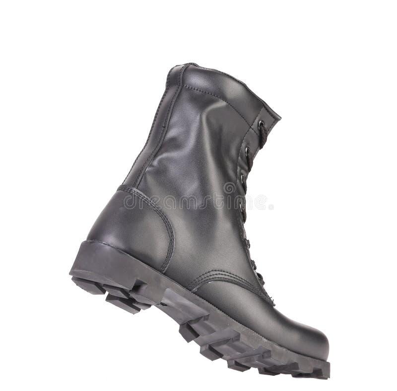 A bota do homem de couro. imagens de stock