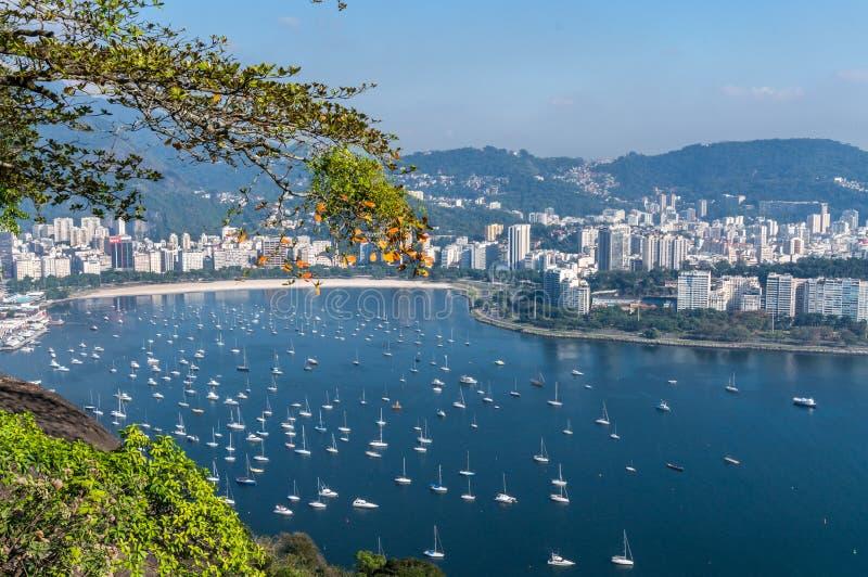 Botafogo bay in Rio de Janeiro stock image
