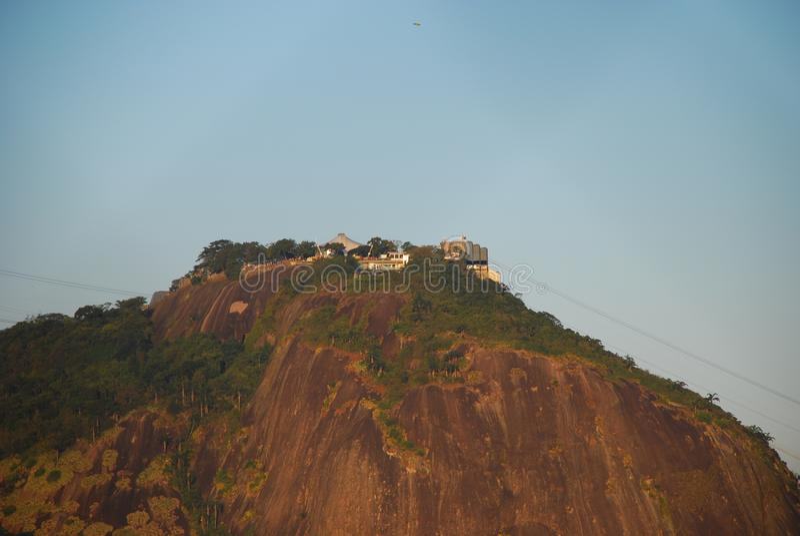 Botafogo beach and Urca background royalty free stock image