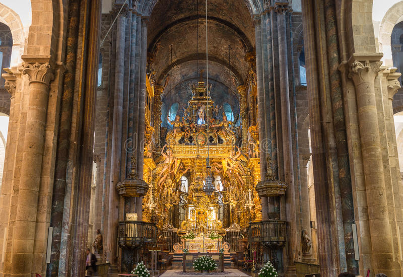 Download Botafumeiro And Altar Wide Angle Stock Image - Image: 28024777