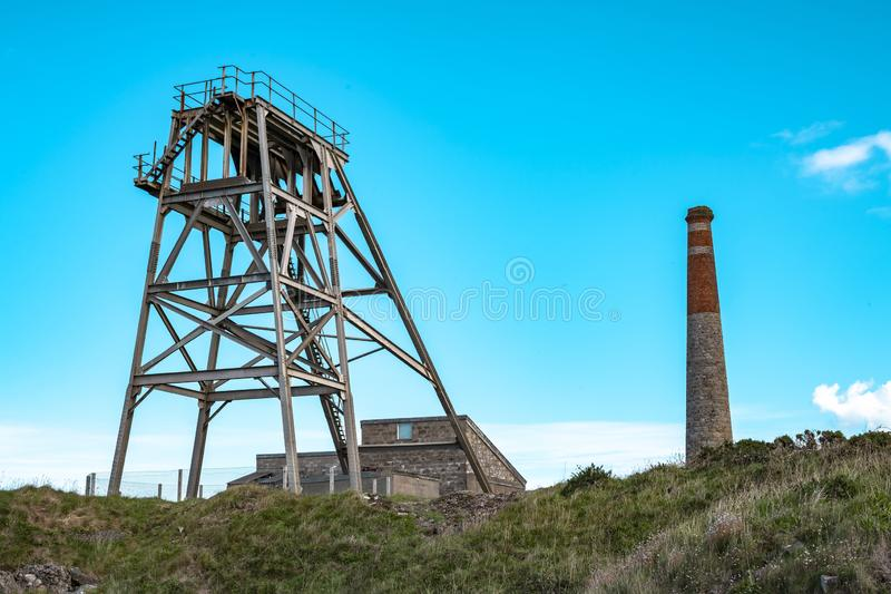 Botallack Blaszane kopalnie w Cornwall UK Anglia obrazy royalty free