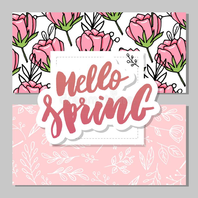 Botanic card with wild flowers, leaves. Spring ornament concept. Floral poster, invite. Vector layout decorative greeting card or. Invitation design background vector illustration