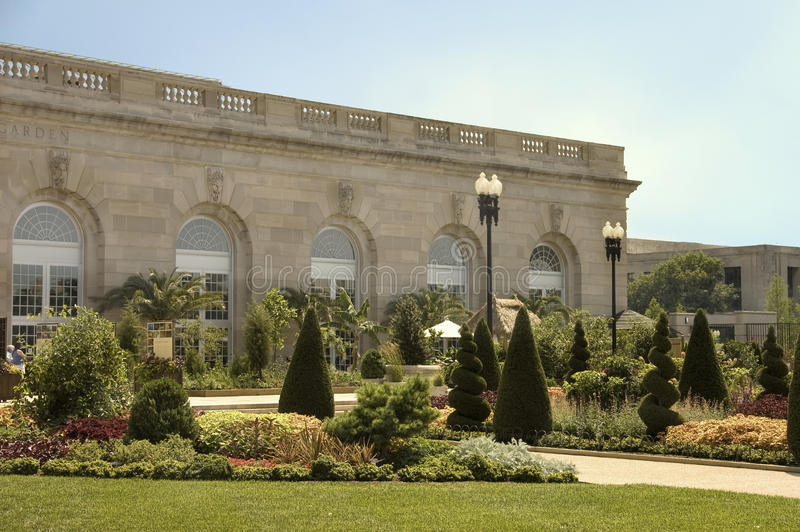 Botanic Garden. Front view of Botanic Garden bulding, Washington, DC, USA stock photo