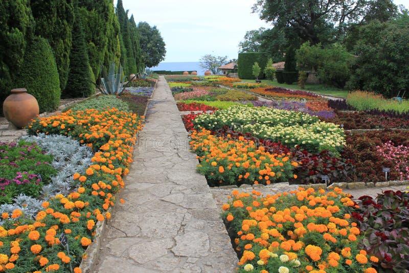 The botanic garden in Balchik, Bulgaria. Photo made in Balchik, Bulgaria at the Black Sea. One of the biggest botanical garden in Europe stock photography