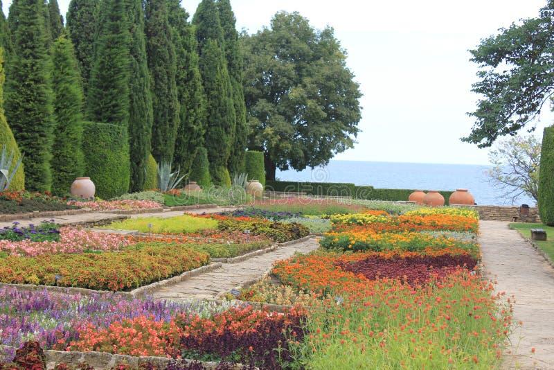 The botanic garden in Balchik, Bulgaria. Photo made in Balchik, Bulgaria at the Black Sea. One of the biggest botanical garden in Europe stock photos