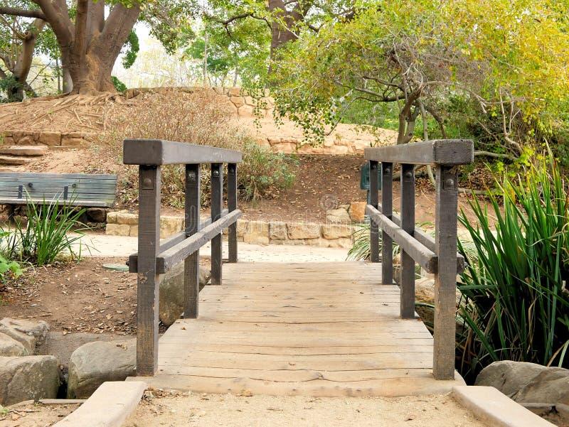 Botanic garden bridge walkway in Santa Barbara California. Botanic garden bridge walkway in Santa Barbara California royalty free stock image