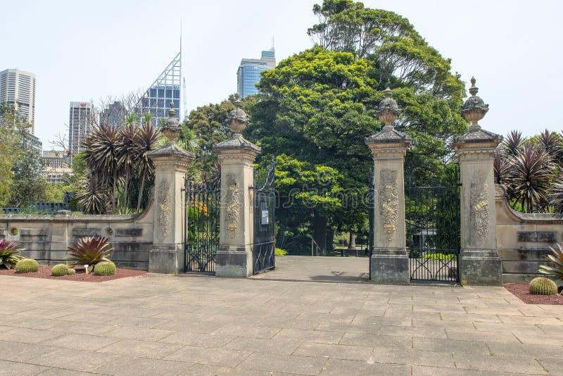 Botanic Gardens Gates Editorial Stock Image