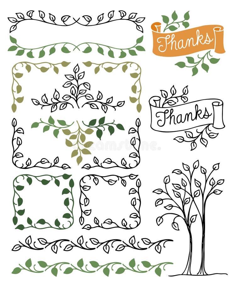Botanical Borders and Frames/eps royalty free illustration