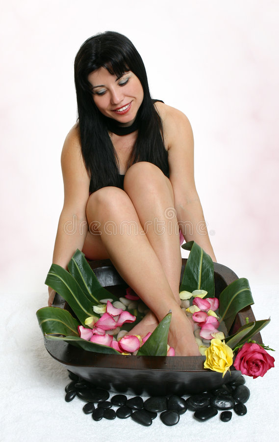 Botanical foot bath royalty free stock photography