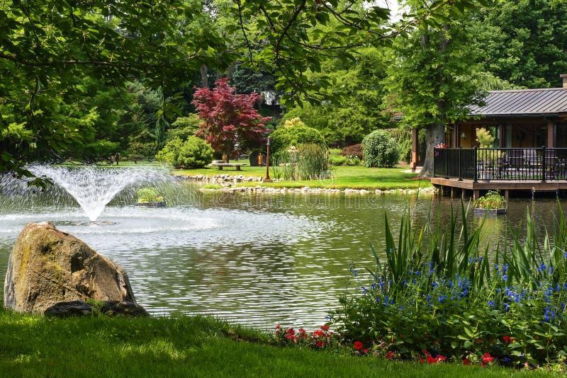 Download Botanical Garden stock image. Image of flower, pond, landscaping - 31754887