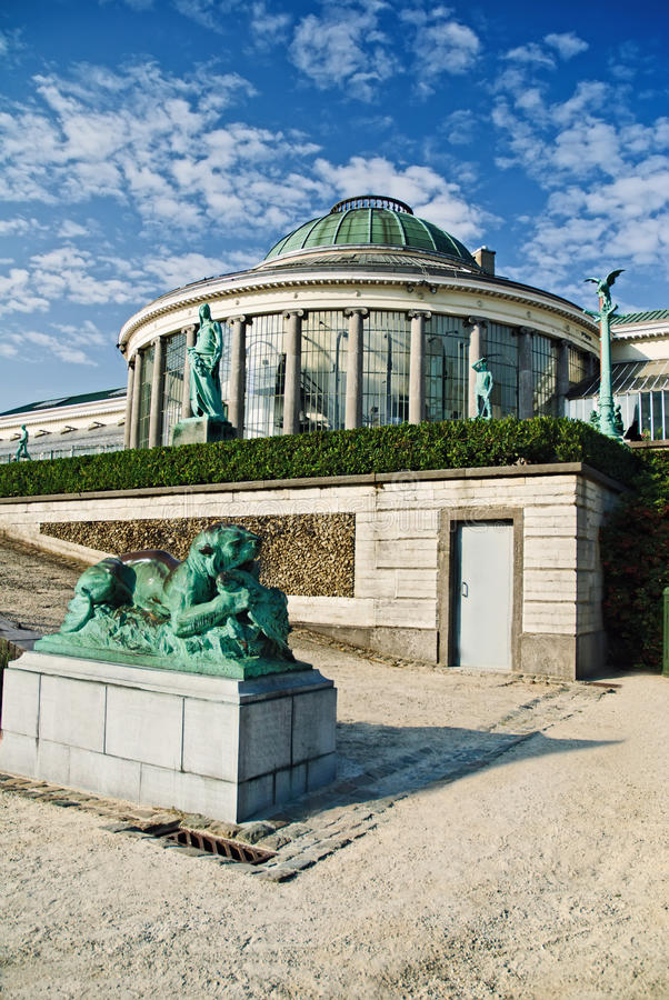 Botanical garden in Brussels stock image