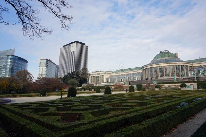 The Botanical Garden of Brussels stock photo