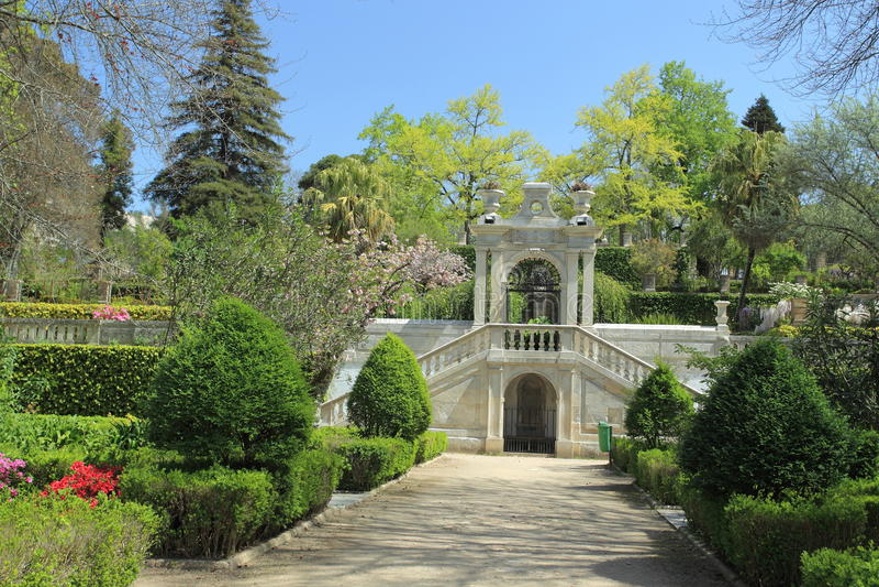 Botanical garden in Coimbra. The historic University botanical garden in Coimbra, Portugal royalty free stock photo