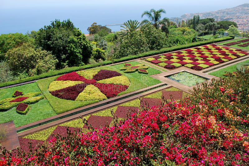 The botanical garden of Funchal in Madeira. Portugal stock photo