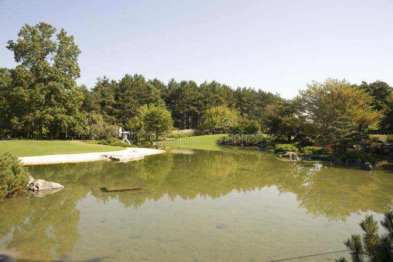 Botanical garden montreal stock photography