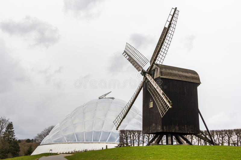 Botanical garden and windmill in Aarhus Denmark. Botanical garden and old windmill in Aarhus Denmark royalty free stock image