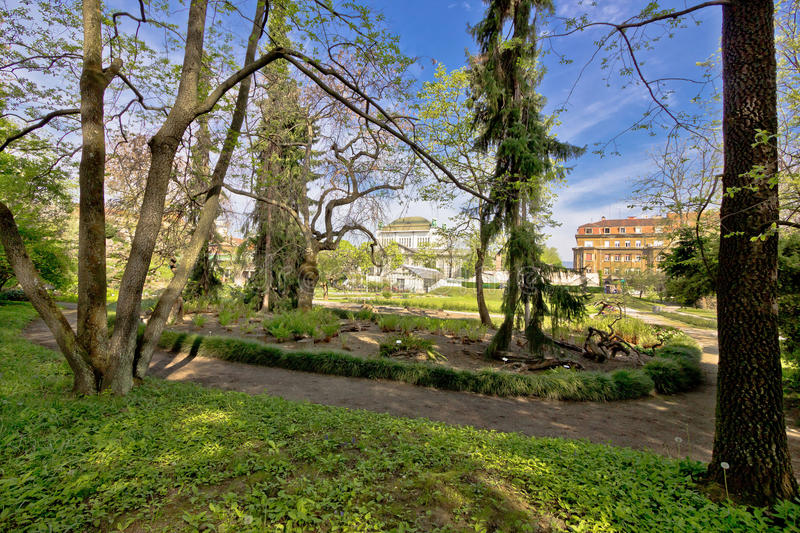 Botanical garden of Zagreb flora view. Capital of Croatia stock photography