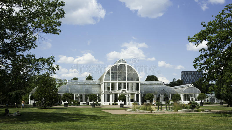 Botanical Glasshouse. And garden in Gothenburg, Sweden royalty free stock photo