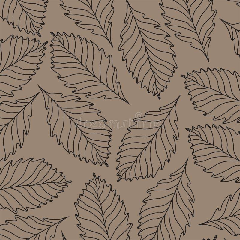 Botanical seamless pattern, floral ornament, flower arrangement 07Botanical vector seamless pattern. Ornament texture back backgro stock illustration