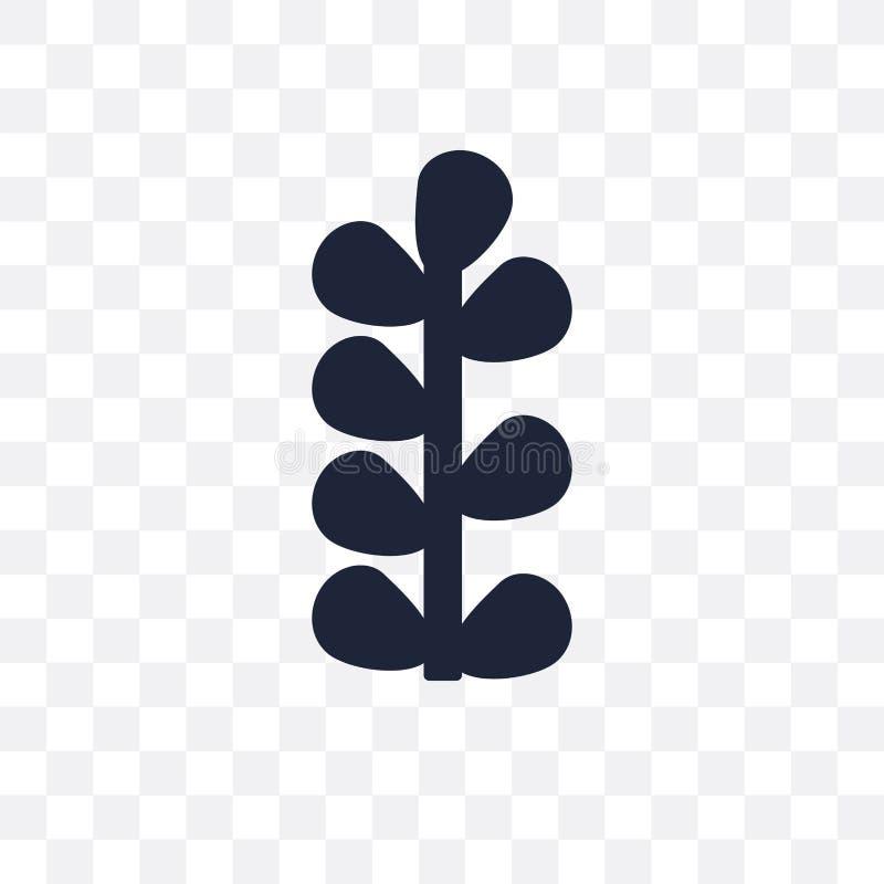 Botaniczna przejrzysta ikona Botaniczny symbolu projekt od muzeum royalty ilustracja