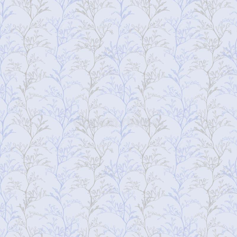 Botaniczny światło - fiołkowy bezszwowy wzór ilustracji