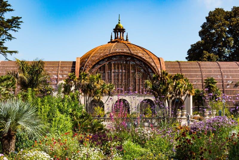 Botaniczny budynek w balboa parku fotografia stock