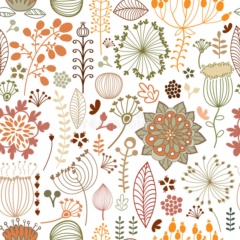 botaniczny deseniowy bezszwowy ilustracja wektor