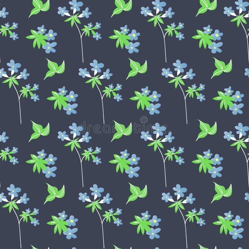 Botaniczny kwiecisty bezszwowy wzór Wektorowy kwiatu druk ilustracji