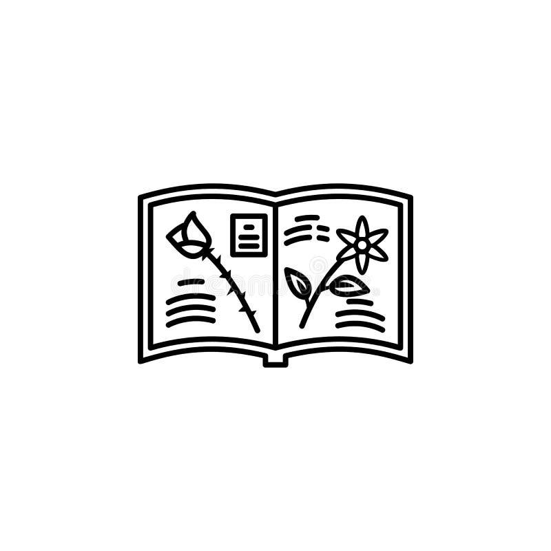 Botanik, Universität, Symbol für Pflanzen Element des Dünnzeilenbildes der Universität lizenzfreie abbildung
