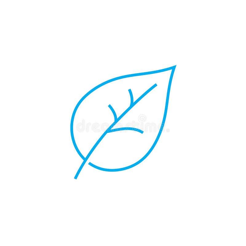 Botanika wektoru uderzenia cienka kreskowa ikona Botanika konturu ilustracja, liniowy znak, symbolu pojęcie ilustracja wektor