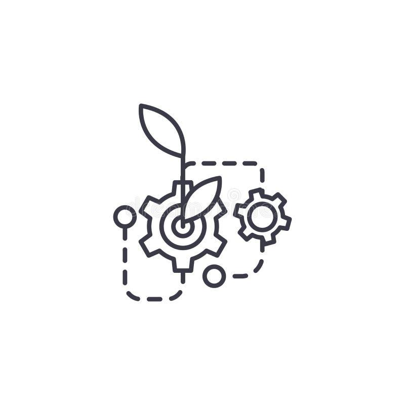 Botaniki ikony liniowy pojęcie Botanika wektoru kreskowy znak, symbol, ilustracja royalty ilustracja