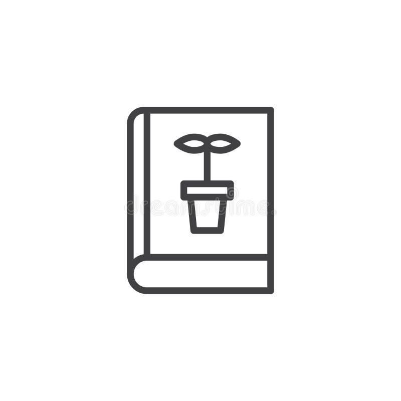 Botaniki książki konturu ikona ilustracja wektor