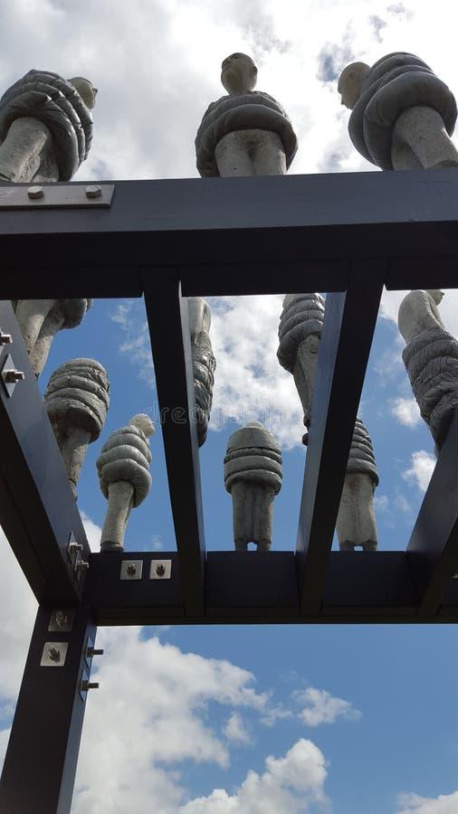 Botanische Gärten Auckland Neuseeland des Stückes I der abstrakten Kunst stockfoto