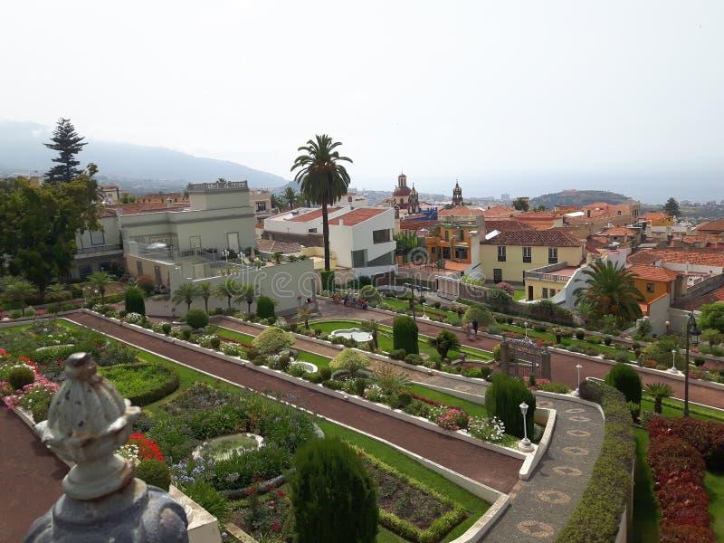 Botanische Gardin Orotava Tenerife stock foto's