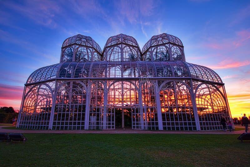 Botanisk trädgård Curitiba, Brasilien royaltyfri bild